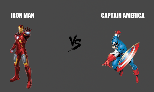marvel's Iron Man vs Marvel's Captain America