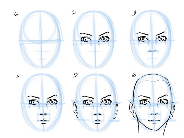 How To Draw Face Of Human